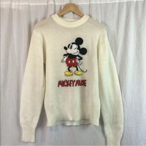 Vintage Mickey Mouse Sweater Size L